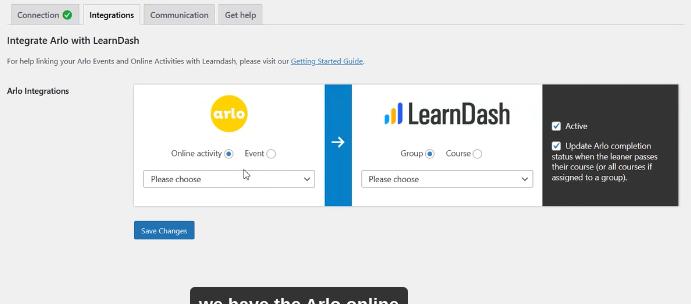 Integrating Arlo with LearnDash using Arlo-LearnDash Plug-in