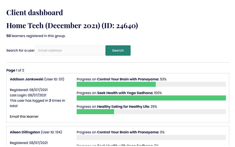 Progress Dashboards